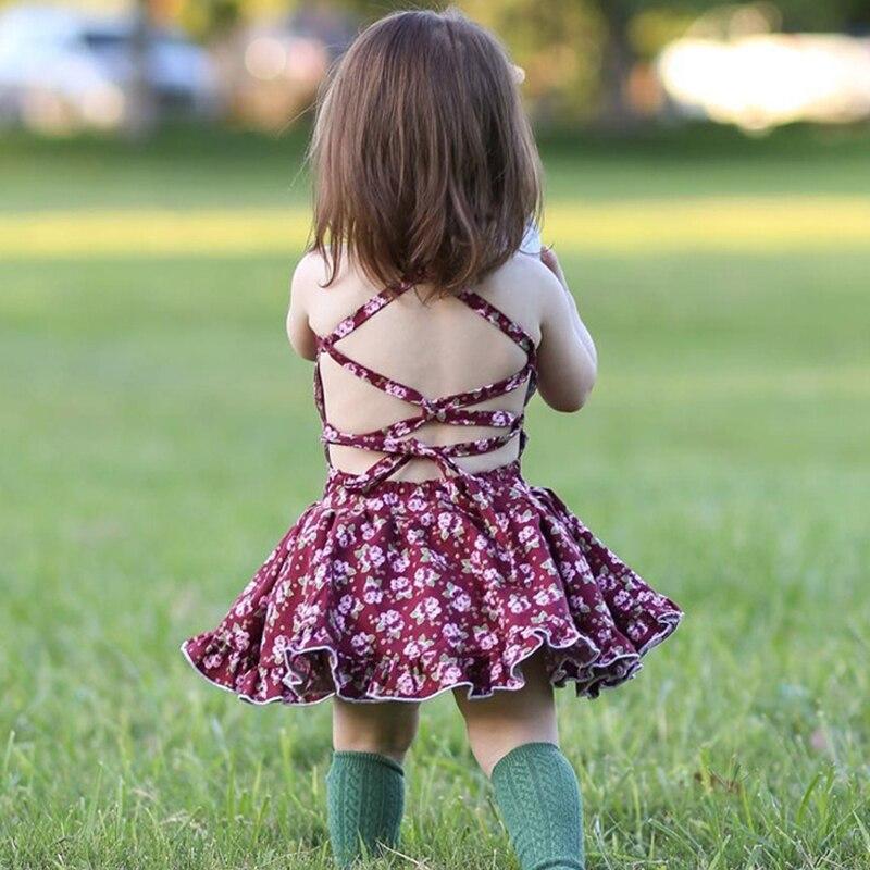 Girls summer dress 2018 bay girls princess dress floral clothing kids clothes cotton child beach wear fuffles children dresses