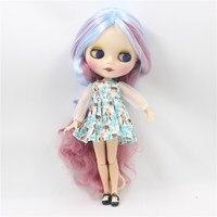 Khỏa thân Blyth doll với cơ thể phần màu sắc đôi tóc dài TỰ LÀM mặt makup thời trang búp bê đồ chơi cho cô gái