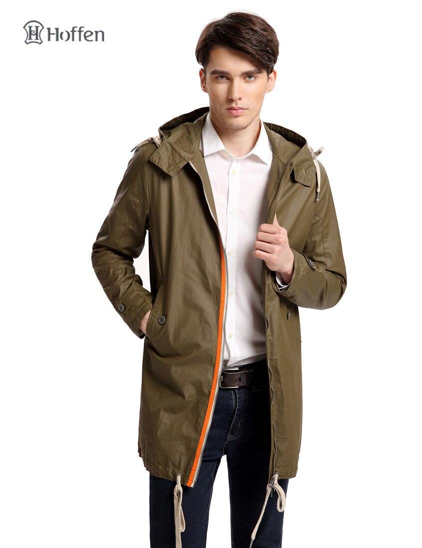 Hoffen New Fashion Mens Hooded Windbreaker Jacket Casual Long ...