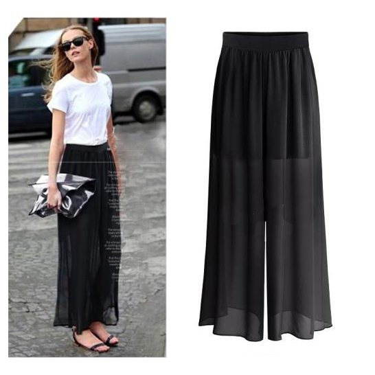 2019 summer Women Comfy   Wide     Leg     Pants   Dance Boho   Pants   Pantalones Mujer Pantskirt Casual Trousers Women Loose Long Harem   Pants