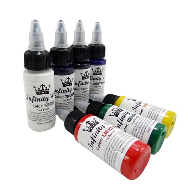 도매 고품질의 7 색 영구 문신 안료 문신 잉크 자수 기계 30ml 미용 도구 무료 배달