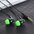 3.5mm En La Oreja MP3 MP4 Subwoofer Cableado Cuerda Trenzada Cuerda De Alambre Tejido Del Oído Auricular Auriculares Con Aislamiento de Ruido Auriculares/luz nuevo estilo