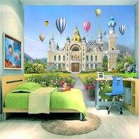 Personalizzato moderno 3d foto non tessuto murale carta da parati bella ragazza principessa dream castle 3d tv sfondo muro per il capretto camera