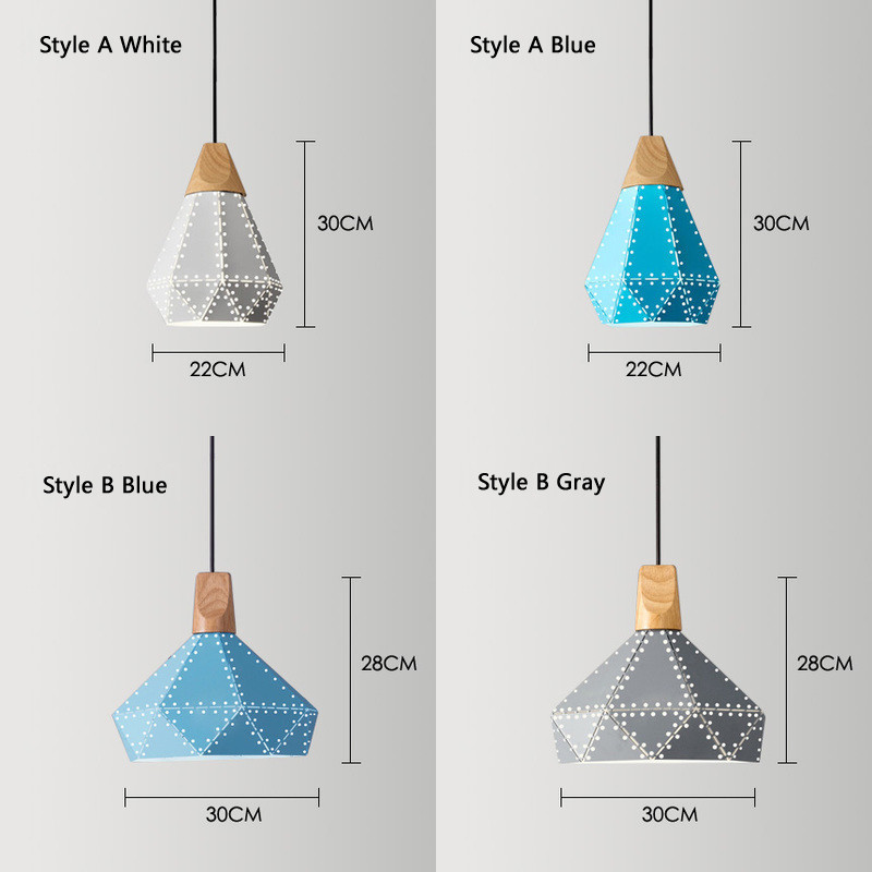 Nordic Loft Industrail Laser Cutting Home Pendant Lamps Lighting Modern Scandinavian Design Wood Hanging Light For Living Room4
