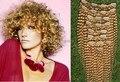 Bleach Blonde Rizado Rizado 100% Clips En la Trama Del Pelo Virginal Brasileño Curl Humano Remy Ins Clip de la Extensión Del Pelo #613 de la Armadura Del Pelo Rizado