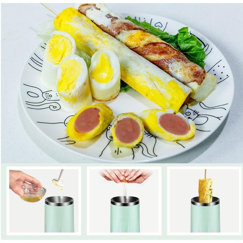 Однотрубное автоматическое многофункциональное устройство для изготовления рулетов Электрический яичный котел омлет мастер колбаса машина для завтрака яйцо инструмент