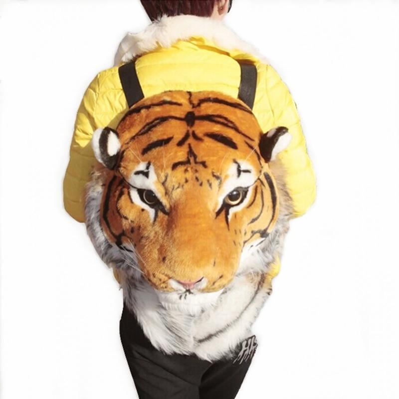 2016 Women Fashion Animal Printing Backpack 3D Tiger Head Backpack Men Travel Bag Cute School Bag