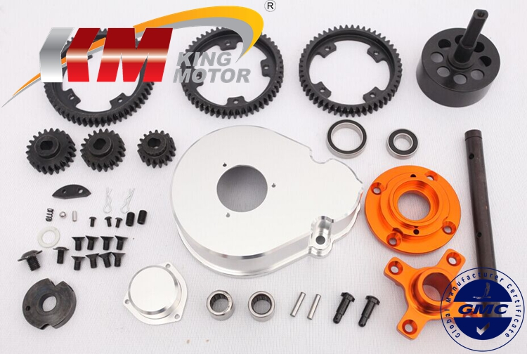1/5 rc car 2 speed gear kits, 3 gear ratio(17T/57T, 20T/54T, 22T/52T) for baja 5b 5t 5sc parts bontrager 26 2 2 52 54 купить шину