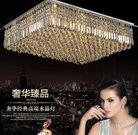 L прямоугольный кристалл лампы гостиной изделие светодио дный кристалл лампы Ресторан K9 потолок кристалл лампы