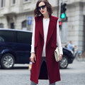 2017 осень зима жилет женщин длинные без рукавов жилеты мода уличная шерстяной жилет свободные плюс размер женщин жилет xs-4xl