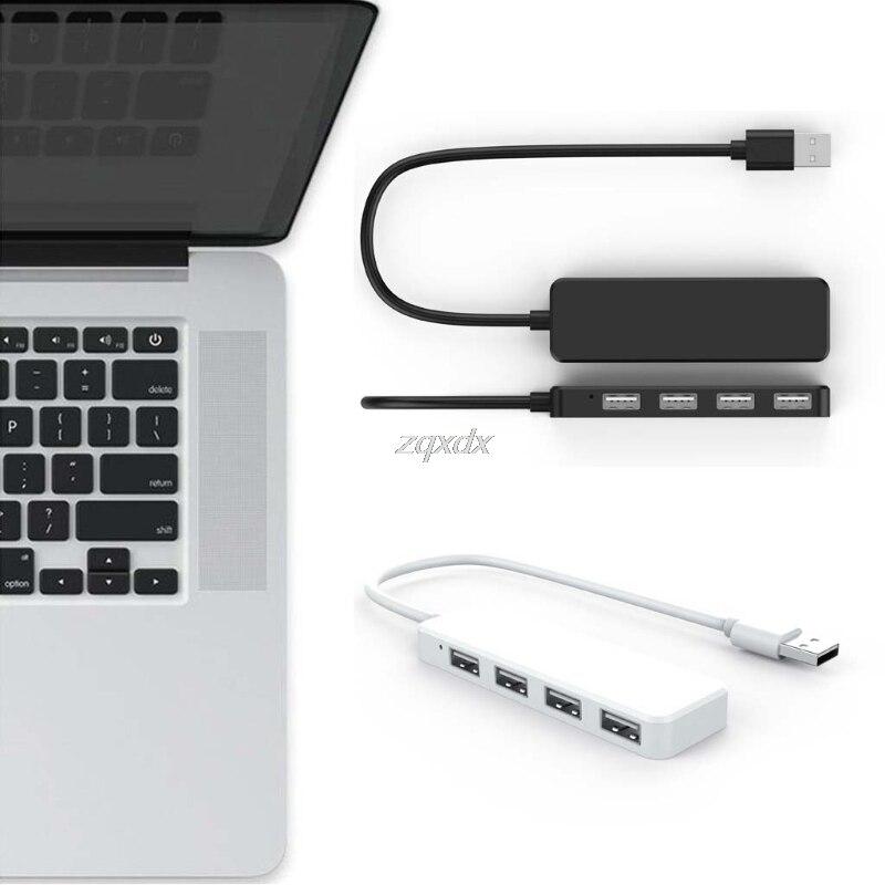 High Speed 4 Ports USB 2.0 Hub USB Port USB HUB Portable OTG Hub USB Extension Splitter For Air Laptop PC Tablet Drop Ship