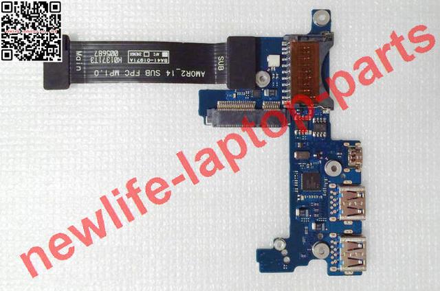 Para samsung series 9 np900x4d np900x4c np900x4b usb sd hdmi placa do botão de energia ba92-10214a ba41-01971a testado frete grátis