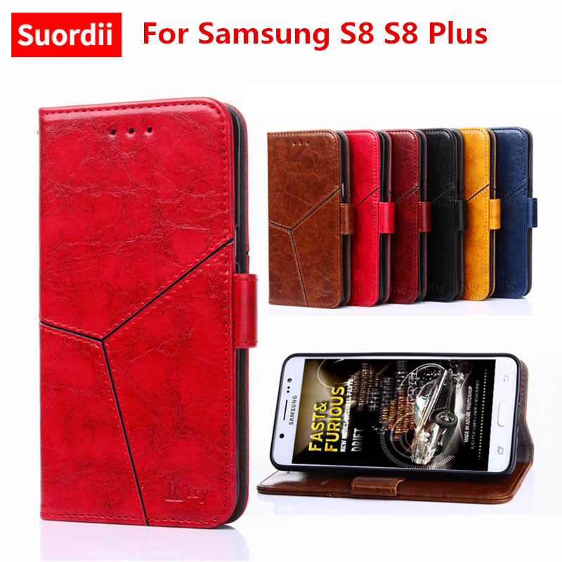 Phone Funda For Samsung S8 S8 Plus Luxury Wallet Flip Leather Stand Case For Samsung S8 S8 Plus Back Cover With Card Holder Slot