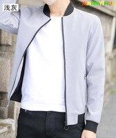 حار بيع! ملابس رجالية الربيع 2017 جديدة الكورية الجنوبية رقيقة عارضة قميص بأكمام طويلة ، الرجال البيسبول سترة ، 4xl 1805