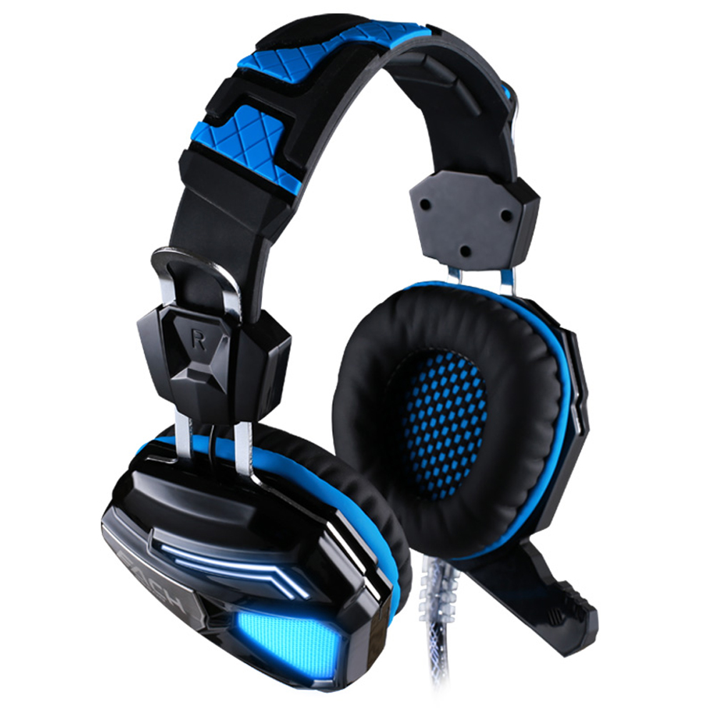 ФОТО Ecouteur Each G5200 Gaming Headset USB LED Headphone Black Mic With Vibrated For Laptop PC PS4