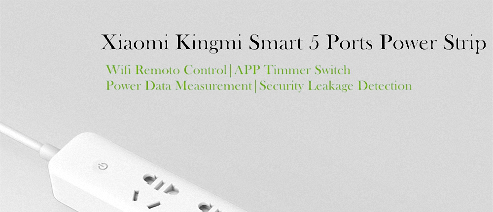 Original Xiaomi Qingmi Smart Home Power Strip 35 Ports 3 USB Fast Charging5 Jacks Extension Socket Plug WiFi Mijia APP Remote (15)
