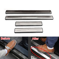 4 Pcs Set Stainless Steel Car Door Sill Guard Scuff Plate Cover Trim For Tiguan 2010