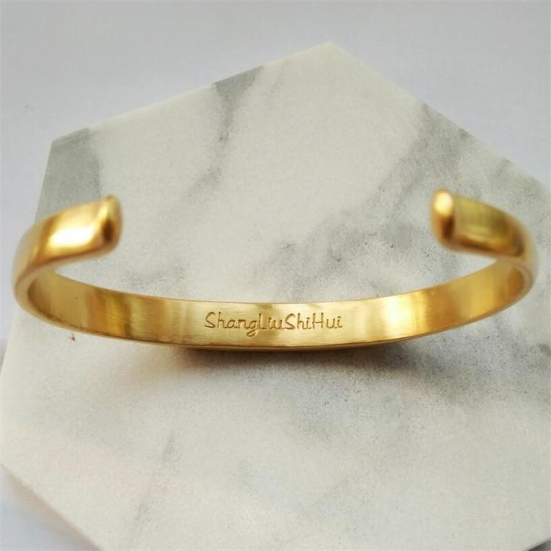 Vintage Stainless Steel Bracelet Men Titanium Steel Heavy Cuff Bangle Bracelets & Bangles Men Jewelry pulseira masculina 12