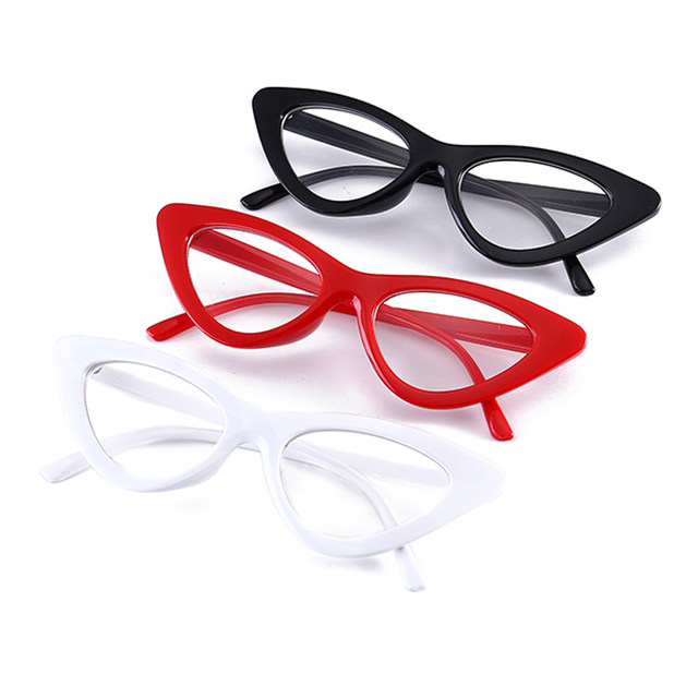 Online Shop Peekaboo Sexy red cat eye glasses frames for women 2018 ...