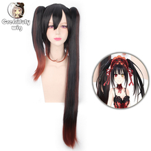 Anime Tokisaki Kurumi Nightmare DATE A LIVE Cosplay Wig Long Synthetic Hair Straight Halloween Costume Party Wigs For Women