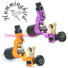 Pro 2 pcs Purple&Gold Hummingbird V2 Original Swiss Motor Rotary Tattoo Machine Gun kit liner shader for cord