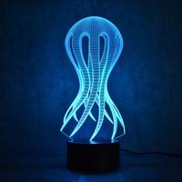 Octopus Jellyfish Lamp 3D USB Led Visual Creative NightLight Fashion Sleeping Night Light Table Lamp Decor