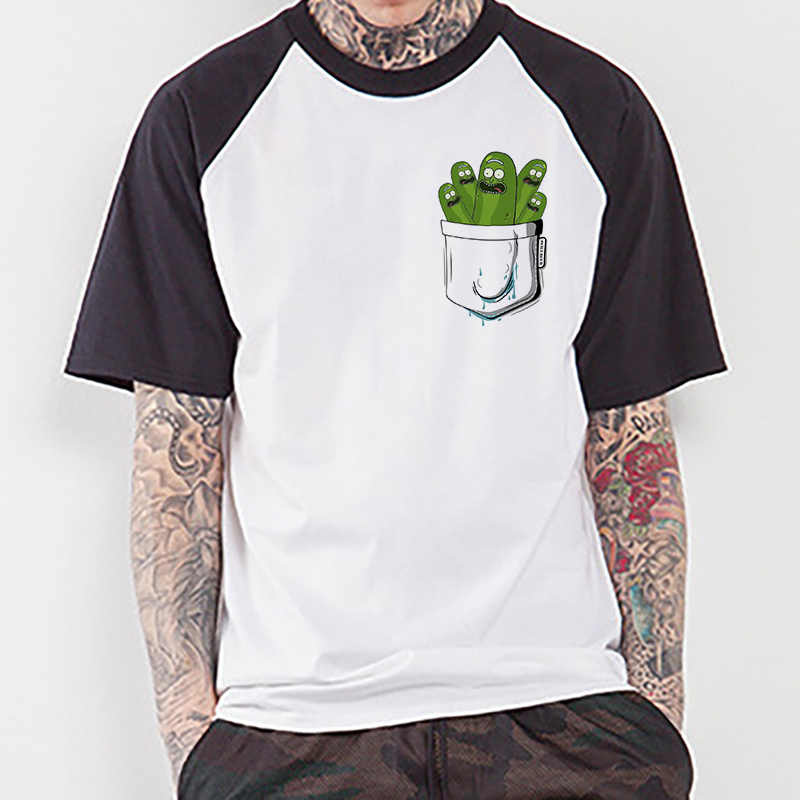 Nuevo divertido Pickle Rick Camiseta Hombre Ricka y Morty camiseta nueva Anime divertida camiseta verano camiseta Rick Morty Cool tops Tees Homme