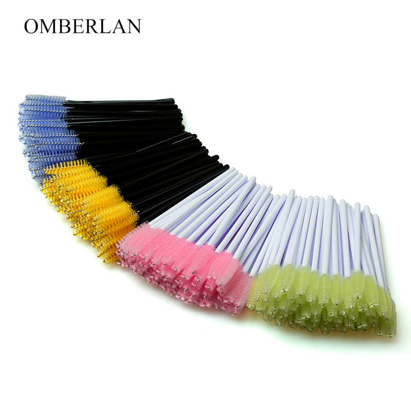 100pcs/lot Disposable Eyelash Brush False Eyelshes Tools Mascara Wands Applicator Spoolers Eye Lashes Cosmetic Brushes Set Make