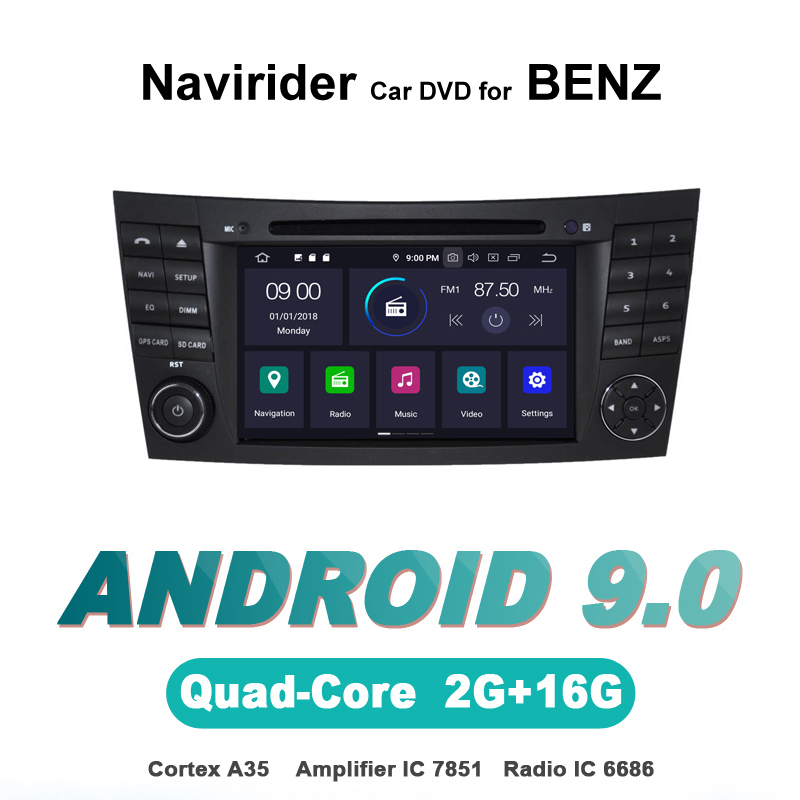 Navirider autoradio gps navigation android 9.0 car radio Player for Benz E-CLASS W211 G-CLASS W463 <font><b>CLS</b></font> <font><b>W219</b></font> AUTO <font><b>accessories</b></font> image