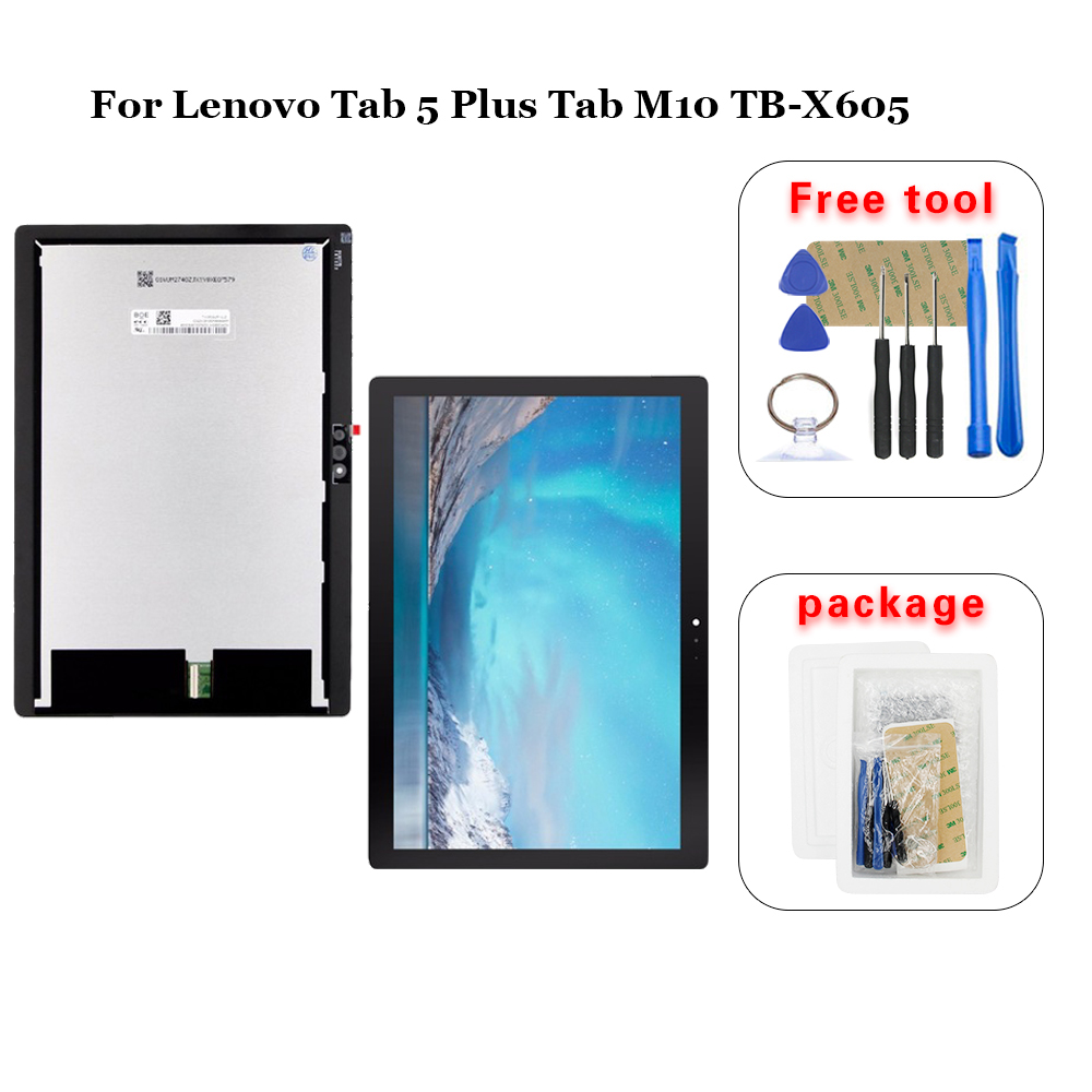 For Lenovo Tab M10 Tab 5 Plus TB-X605L TB-X605F TB-X605M TB-X605 LCD Display Touch Screen Digitizer Glass Replacement