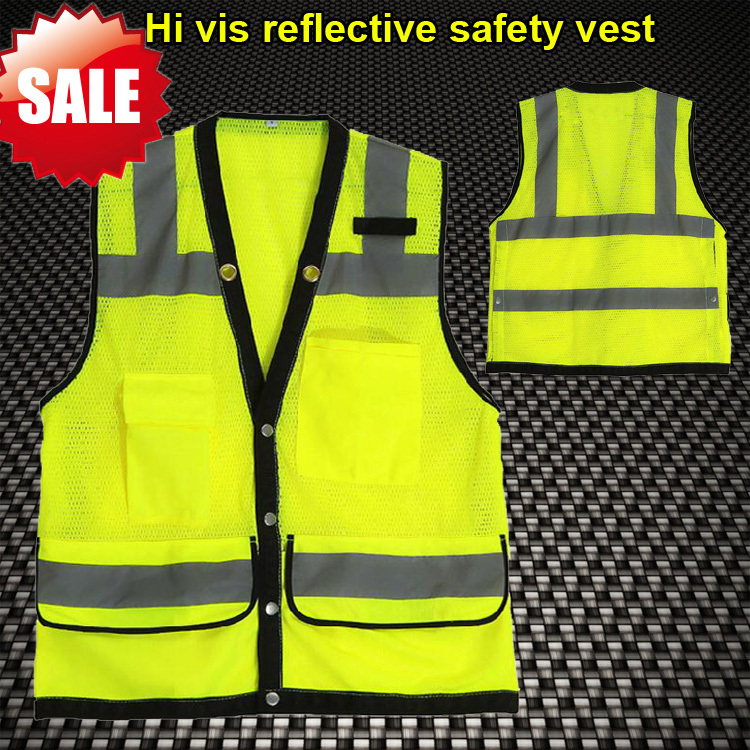 Romantic Sfvest En471 Hi Vis Vest Safety Vest With Logo Printing Workwear Safety Jacket Free Shipping Safety Clothing