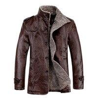 New 2019 Mens Leather Jackets Classic Motorcycle Bike Cowboy Jacket Male Velvet Casual Coats Warm Brand Clothing Plus Size 8XL