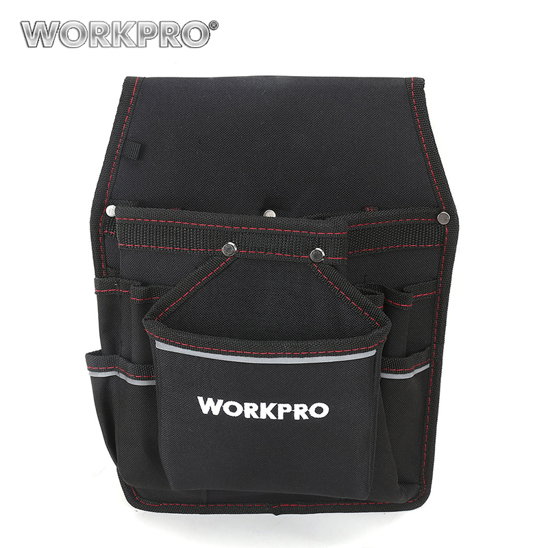 WORKPRO Electrician Waist Tool Bag Belt Tool Pouch Utility Kits Holder with Pockets high quality telecommunications holder electrician 600d water proof cloth rivet fixed tool bag belt utility kit pocket pouch