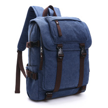 2018 Fashion Men Canvas Leather Backpack College Student Multifunction Travel Backpack Waterproof Backpack Laptop Mochila Bags цены онлайн