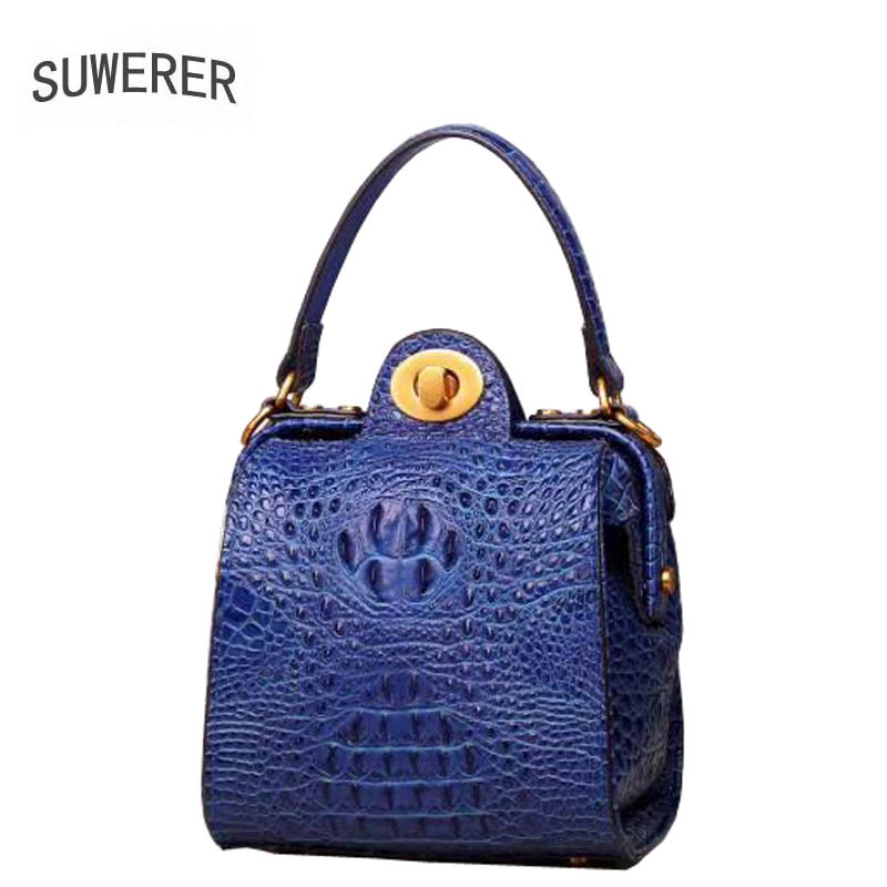 2018 New Women Genuine Leather bags Fashion luxury Crocodile pattern handbags designer women totes bag shoulder bag leather chance love 2018 new crocodile pattern suede genuine leather women s handbag large capacity shoulder bag women bags designer