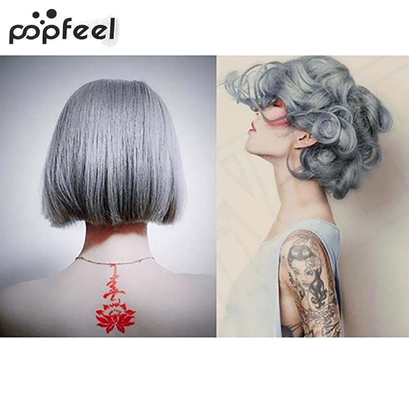 popfeel 1Pc 100Ml Fashion Light Gray Color Natural Permanent Super Hair Dye Cream smt 79 плакат в тубусе история изобретений