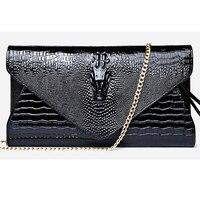 Vintage Crocodile Women Handbag Ladies Envelope Bag Small Women Leather Crossbody Bag Shoulder Bag Messenger Bag