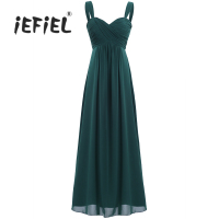 IEFiEL For Weeding Party Dress Women S Ladies Chiffon Pleated Bridesmaid Dress Long Evening Prom Gown