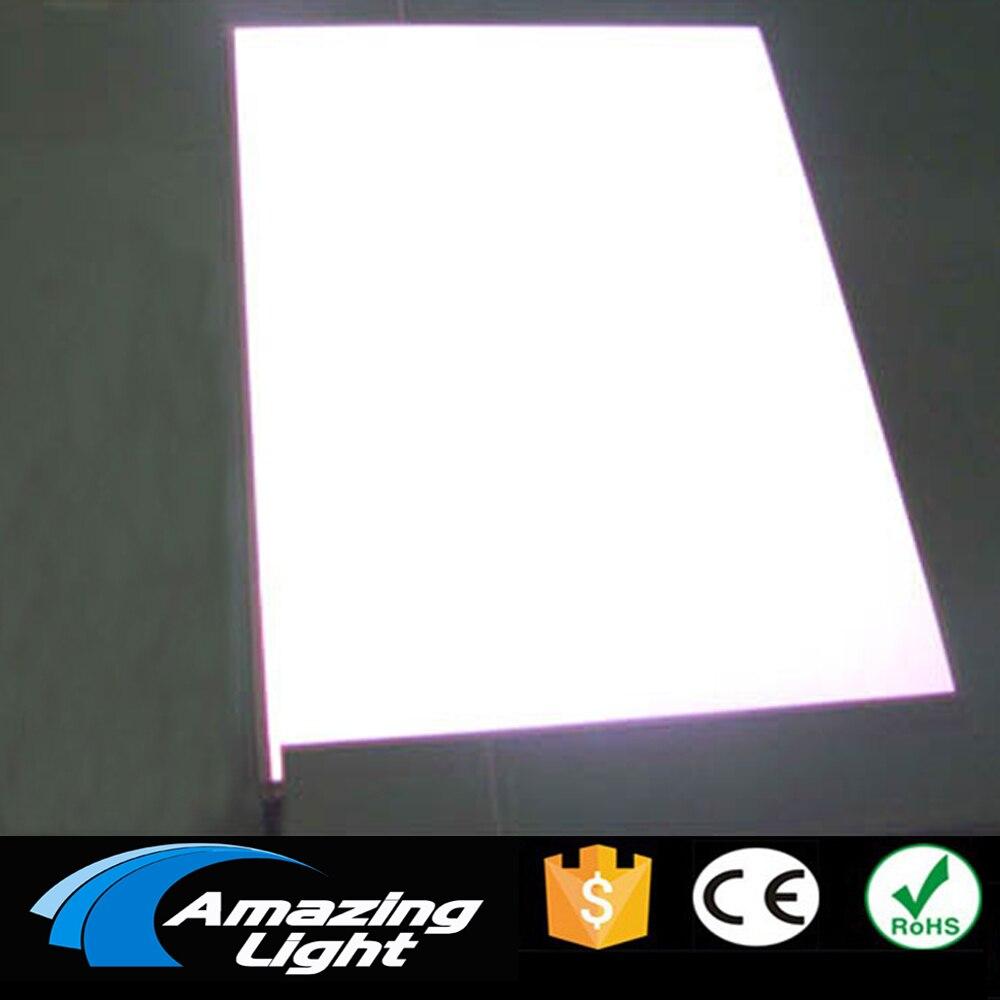 Blanc blanc couleur A4 (210*297mm) feuille électroluminescente el rétro-éclairage panneau EL feuille LCD affichage livraison gratuite
