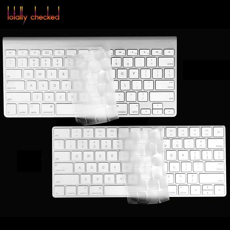 Magic Keyboard Cover for Apple Wireless Bluetooth Keyboard Magic Keyboard Black  Silicone Skin TPU Keyboard Cover Skin
