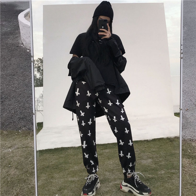 Streetwear Hiphop Harem Graphic Print Elastic Waist Jogger Pant Summer Autumn Homme Tracksuit Korean Trouser Fashion Workout New 4