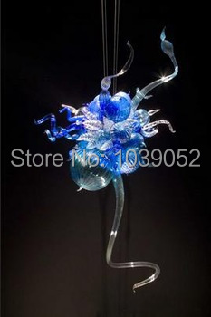 Free Shipping Mini Murano Pendant Chandelier Light In Blue in Chandeliers from Lights Lighting