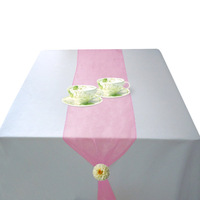 30 275cm Organza Table Runners Wedding Party Banquet Supply Decoration Home Decor Organza Fabric Table Runner