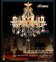 Bohemian Crystal Chandelier traditional vintage chandeliers bronze and brass chandelier Antique gold crystal lighting candle