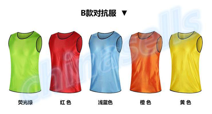 40pcs adult soccer football basketball group against scrimmage vest combat training tank top lacrosse jerseys