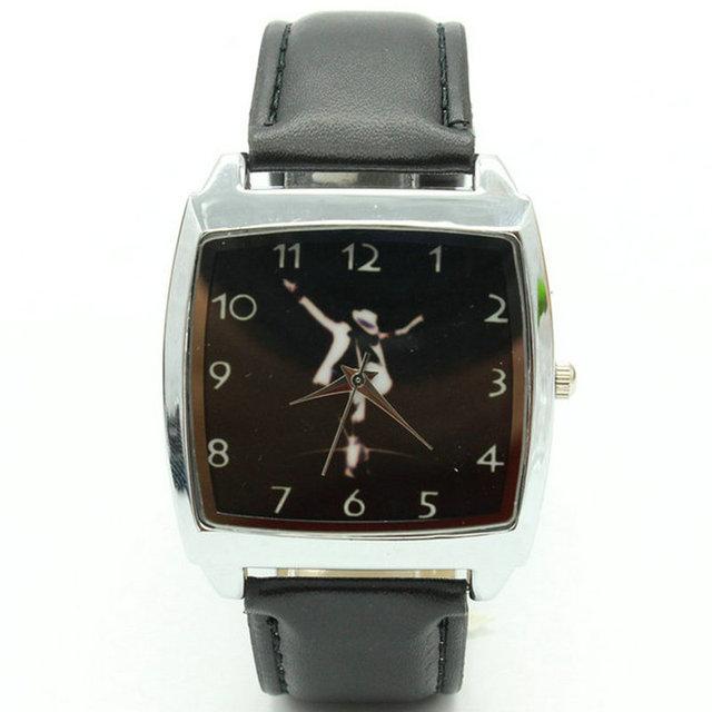 2018 Free Shipping Michael Jackson Black Leather Band Fashion Wrist Watch