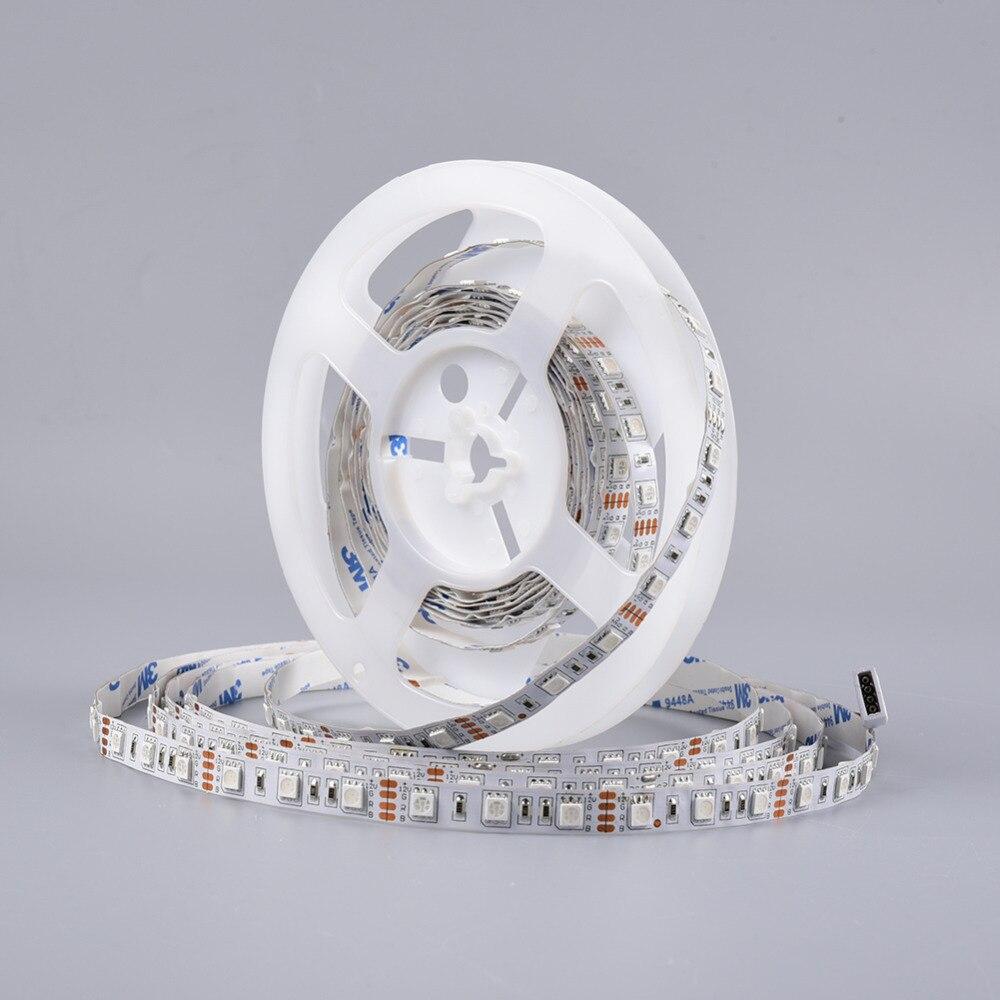 5m LED Strip Light SMD 5050 12V 60leds m Flexible LED Tape Ribbon Ledstrip Lighting Lamps