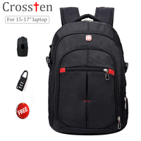 Free Shipping Original Swiss Bag 17 Inch Laptop Bag Multifunctional Backpack Travel Bags Hiking Bag Schoolbag