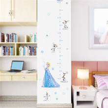 Cartoon Elsa Princess Wall Sticker Measuring Height Home Decoration Pinup Picture Collage S Room Bedroom