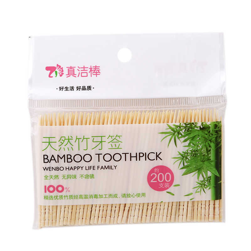 Tooth Pick Wood High Quality Tandenstokers Dental Natural Bamboo Toothpick Home Restaurant Hotel Products Toothpicks 200PCS/Set